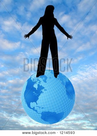 Sky, Earth And Woman 2