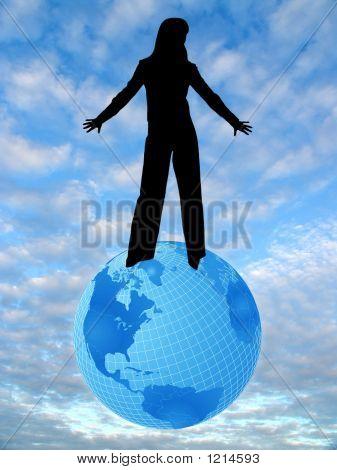 Sky, Earth And Woman 2
