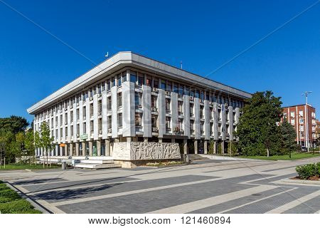 Administrative building from communist period, Pleven, Bulgaria