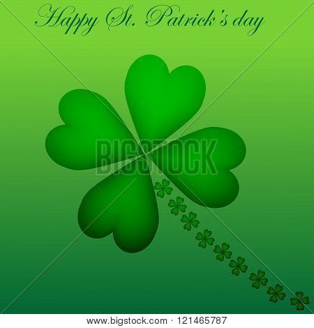 Vector illustration St Patrick's day on green background