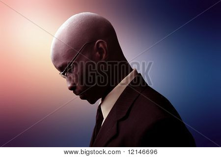 a profile of a business man