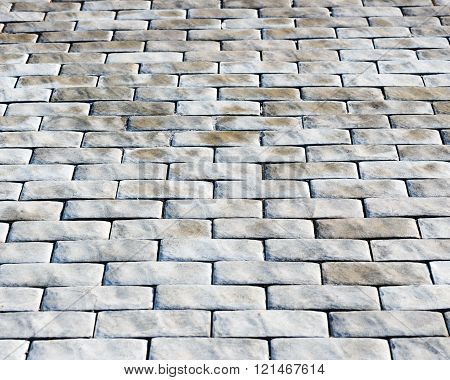 Abstract background of cobble stones making from stone blocks.