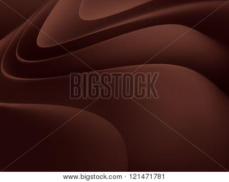 chocolate cream closeup