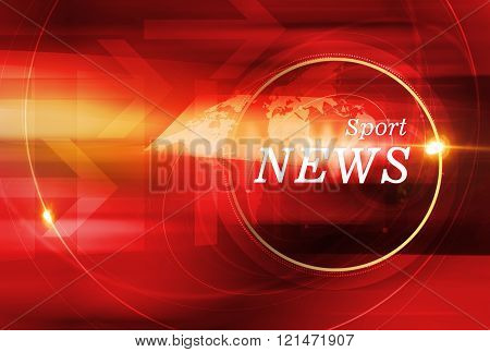Graphical Sport News Background With Lens Flare