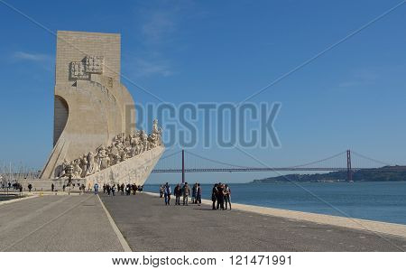 Monument to the Discoveries Belem district Lisbon Portugal.