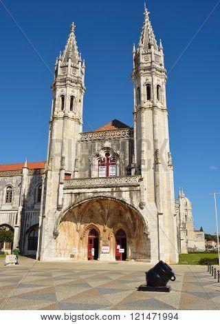 Facade of the Museu de Marinha Belem Lisbon Portugal