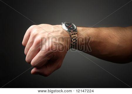 um relógio de pulso