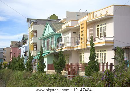 Modern buildings of Dalat. Vietnam