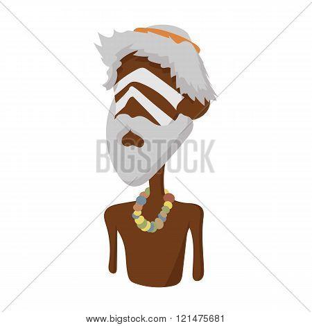 Australian aborigine icon, cartoon style