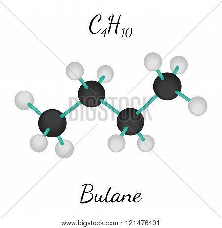 C4H10 butane molecule
