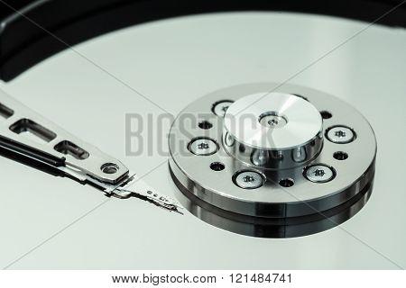 Hard drive read-write head macro