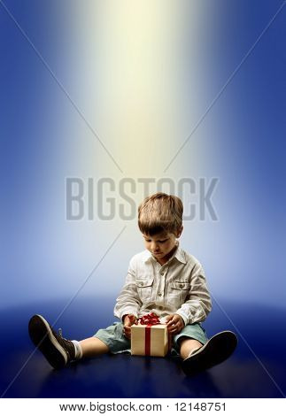 child with a present