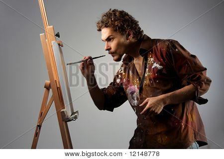 junger Mann, Gemälde auf Leinwand