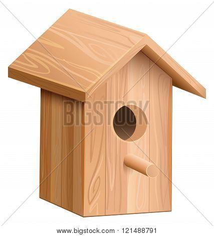 Wooden house for bird. Nesting box