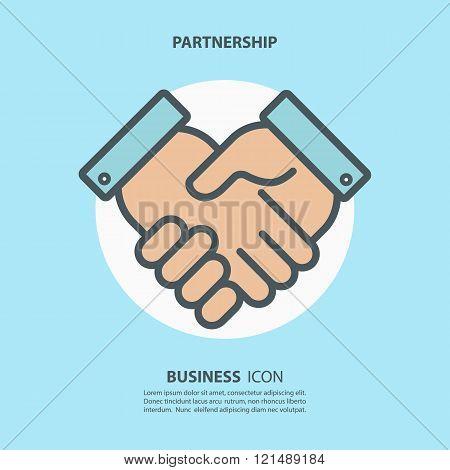 Partnership icon. Handshake icon. Teamwork and friendship. Business concept.