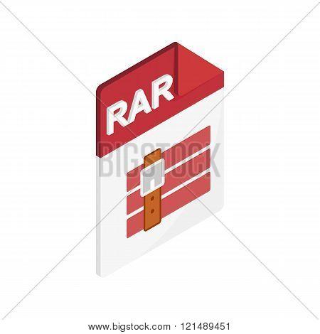 RAR file icon, isometric 3d style
