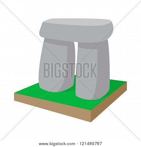 Stonehenge icon, cartoon style