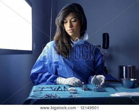 woman doctor in operative room