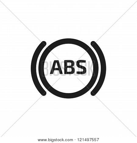 Car system vector icon. Automobile brake system symbol.