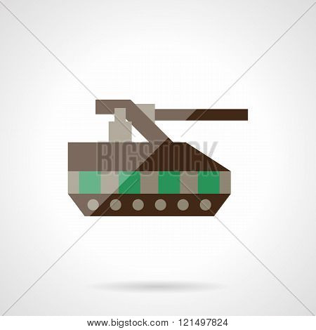 Radio control tank flat color design vector icon