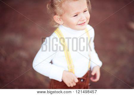 Closeup portrait of smiling child
