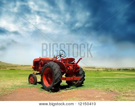 tractor in countryside