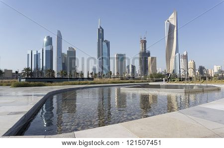 Amazing view Kuwait Skyline from shaheed park