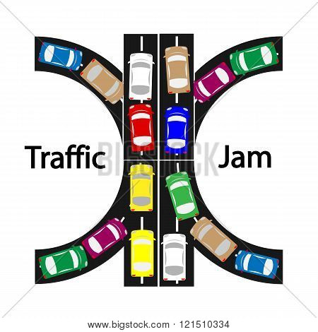 Traffic Jam Symbol ,transprtation Concept,car Icon