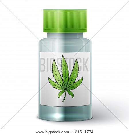 bottle with medical marijuana