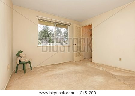 Empty Room With One Door And Window