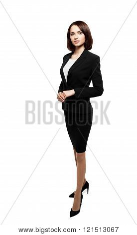 Successful business woman isolated over white
