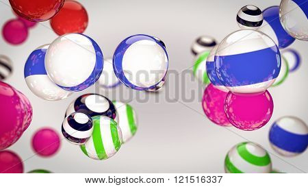 Abstract Color Striped Spheres