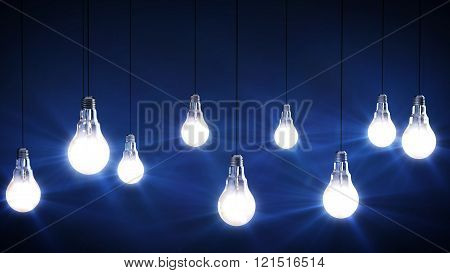 Idea Concept With Light Bulbs