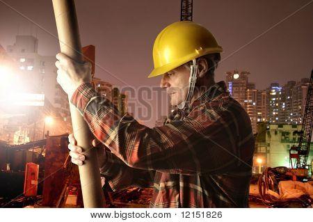 man at work in a yard