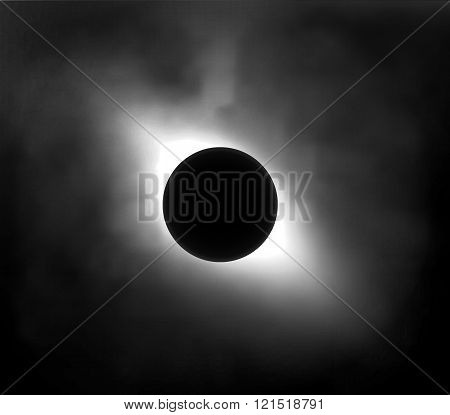 Eclipse Of The Sun In The Sky