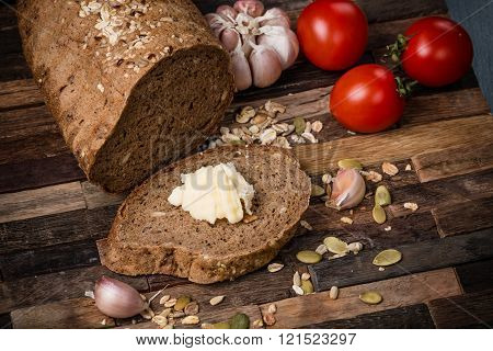 Whole grain bread.