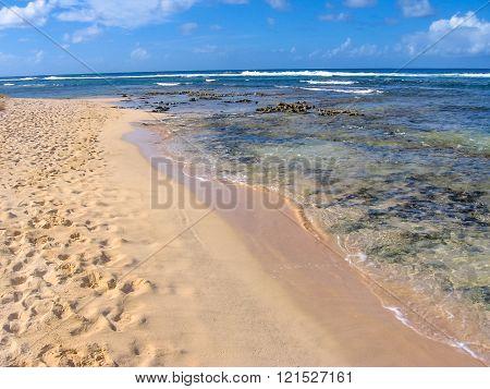 Tropical beach Caribbean