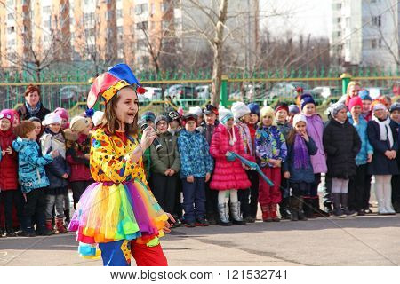 Maslenitsa, A Traditional Spring Holiday In Russia.