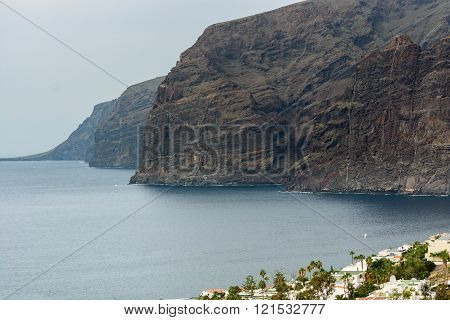 View of Los Gigantes rocks on Tenerife Canary Islands Spain