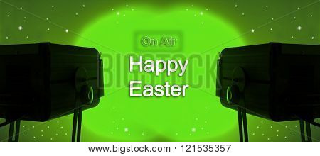 Spotlight And Written On Air And Happy Easter