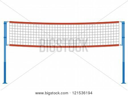 Vector volleyball net illustration. Volleyball net isolated on white background. Volleyball net vect