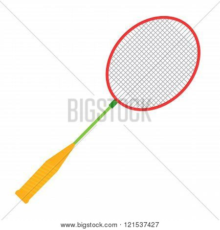 Vector Badminton racket illustration. Badminton racket isolated on white background. Badminton racke