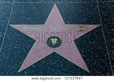 Donald Sutherland Hollywood Star