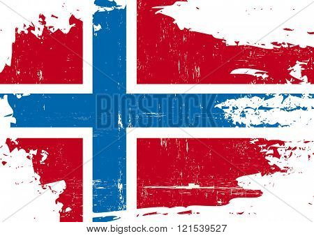 Norway scratched Flag. A Norwegian flag with a grunge texture