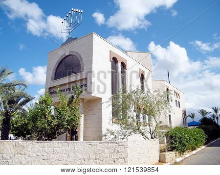Synagogue in quarter Neve Rabin in Or Yehuda Israel
