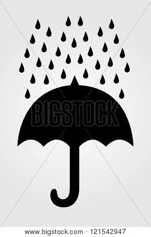 Umbrella Icon - Vector Illustration.