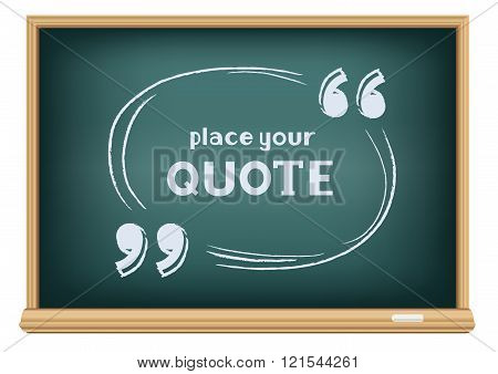 blackboard quote template