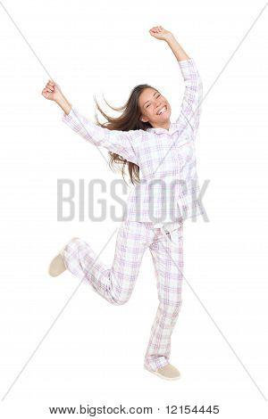 Cheerful Happy Dancing Pajamas Woman