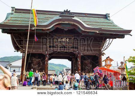 NAGANO, JAPAN - MAY 23, 2015: Important Zenkoji Temple, Nagano,