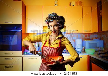 housewife cooking